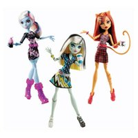abbey brand - Original Monster High Coffin Bean Toralei cat Abbey Bominable Frankie Stein Dolls For Girls Birthday Christmas Gifts Genuine Brand Kid Toys