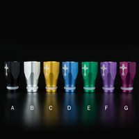 Wholesale Aluminium Drip Tips mm Diameter Colors Square Shape Mouth Pieces With Cross Pattern Fit mm RDA