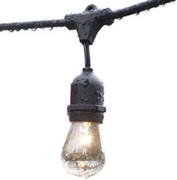 Wholesale Outdoor String Lights Feet Long with Hanging Loops with E26 Dropped Sockets S14 Bulbs Included Party Lighting