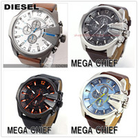 Fashion military - 2015 hot Best Selling DZ Men s atmos Clock Leather Strap Watches Full Men Watch Steel Military Quartz Men s sports Wristwatch DZ4290