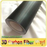 vinyl roll - High Quality Black D Carbon Fiber Vinyl Film Sticker Air Free Car Wrapping Size m Roll