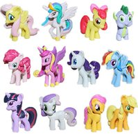 Wholesale of My Little Pony Cake Toppers PVC Action Figures Kids Girl Toy Dolls My Little Pony Figures