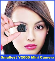 Wholesale 2015 New Smallest Hidden Mini Camera Camcorder Video Spy Mini DV Spycam Y2000 DHL Free Delivery