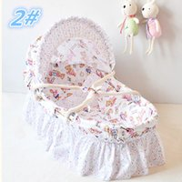 Wholesale 2015 Newborn Baby Products Portable Sleeping Basket Handmade Corn Bran Woven Baby Crib Colors for Choices