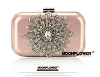 black sunflower - High Quality Sunflower Diamond Clutch Bag Faux Leather Party Bag Women s Diamond Flower Evening Bag With Chain Color
