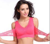 Wholesale Sexy women bras yoga push up bras Shapers Bustiers Corsets lace cotton Active sports vest bras lady underwear colorful