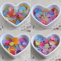 az charms - 200PCs mm Blend Color Frosted Acrylic flower Charms Pendants Fit Jewelry Handmade AZ MS21