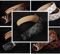 Wholesale 20016 new hip brand buckle l designer belts for men women genuine leather gold cinto belt v Men s