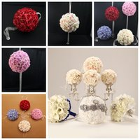 ball suppliers - Inch Inch cm Silk Flowers Pom Poms Artificial Flower Balls Party Baby Shower Nursery Wedding Supplier Party Decoration