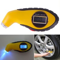 Wholesale LCD Digital Tire Tyre Air Pressure Gauge Tester Tool For Auto Car Motorcycle Freeshipping