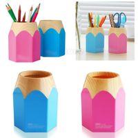 Wholesale Creative Pen Vase Pencil Pot Makeup Brush Holder Stationery Container Desk Tidy A5