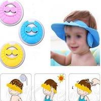 Wholesale 2016 Brand Baby Shower Hats Soft Baby Bath Visor Baby Bath Head Kids Cap Bath For Little Babies