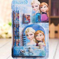 Wholesale 120 Sets Anime Elsa Frozen Princess Anna Stationery Sets in Free DHL Fedex
