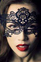 Wholesale Halloween Masquerade Party Black Lace Mask sexy women magic dancing queen party use mask