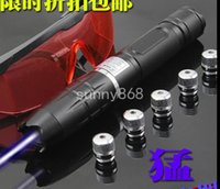 Wholesale 800000mw blue laser torch laser pen flashlight laser pointer focus all over sky star cutting pen point cigarette self defense