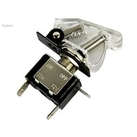 Wholesale Hot White Car Auto Cover Toggle Switch Control On Off LED SPST V A