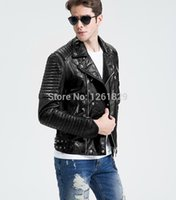 asymmetrical jacket men - Fall Jaquetas De Couro Promotion Hot Sale Turn down Collar Asymmetrical Zip Genuine Leather Famous Brand Motorcycle Jacket Men