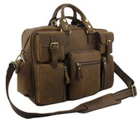 leather duffle bag - Vintage Crazy Horse Leather men s travel bags of trip Men Leather duffle bag men luggage travel bag Genuine Leather Bag Carry On