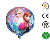 aluminium uses - 18inch round Aluminium Coatin Foil balloons frozen helium balloon Frozen Princess Birthday Balloon Decoration can be used repeatedly cm