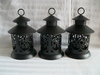 Metal wrought iron - Black Candle Holders Zakka Decorative Metal Bird Cage Candle Resin Bird Wrought Iron Candle Holders For Wedding Home Decoration