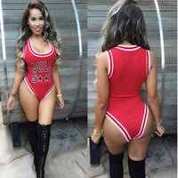 basketball uniforms - Women Fashion Sleeveless Letter Print Sheath Basketball Sport Jumpsuit Rompers Bodysuit Uniforms enteritos mujer OM431