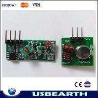 Wholesale 433Mhz RF transmitter and receiver kit Super regenerative module burglar alarm