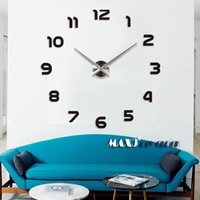 Wholesale Modern digital big size DIY wall clock large size decorative wall stickers clock brief simple elegant beautiful home decoration
