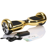 battery balance leads - Led RGB Chrome Scooter Smart Balance Wheel Self Balancing Inch Silver Luxury Gold Plating Scooter Two Wheel Scooter Samsung Battery