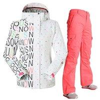 Wholesale women ski suit ski jakcet and pants set windproof waterproof women snow boarding suit snowboard skiing suit