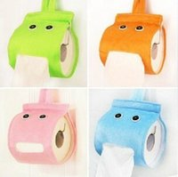 bathroom tissue dispensers - new style Lovely lazy elf Creative cloth Tissue Boxes Toilet Paper Dispenser use for Cars bathroom sitting room