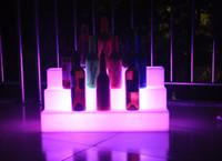 bar bottle shelves - Slong Light Colorful LED Three Step Bar Shelves Holder Remote control Waterproof Lighted up bottle displays wine Holders