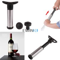 Wholesale Stainless Steel Wine Bottle Vacuum Saver Sealer Preserver Bar Pump with Stoppers Corks Hot Selling