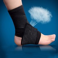 Wholesale 2pcs outdoor sports spirally wound bandage ankle support volleyball basketball ankle protection adjustable elastic band
