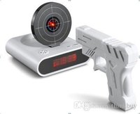 best wheel gun - Best price offer Target Practice GUN Alarm Clock with Wheels