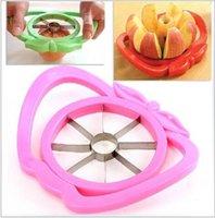 apple core cutter - 2015 Apple fruit Slicer Fruit Knife Apple Pear Corer Slicer Cutter Core Handed Wedger Fruit Easy Cut Apple cut stainless steel BBA3463