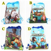 Wholesale Minecraft Storage Bag Backpacks Minecraft Drawstring Bags Non woven Minions bag Cartoon Minions Storage Bags Styles