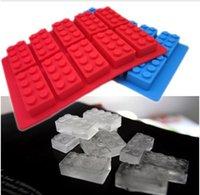 Wholesale by FedEx FDA LFGB Ice Mold Silicone Ice Cube Tray Brick Block per