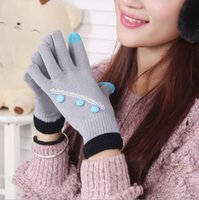Wholesale Touch Screen Gloves Winter Warm Gloves Women Cute Lady Graceful Beautiful Thickened Cell Phone Accessories