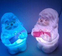 Wholesale 2015 Led Color Christmas Decorations Ornaments Xmas Lamp Night Light Gifts Candle pieces