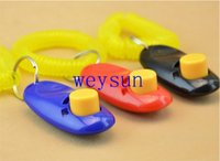 Wholesale Dog Pet Click Clicker Training Trainer Aid Wrist Strap