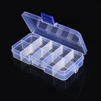 bead assortment - 10 Value Clear Electronic Beads Box Components Slot Storage Assortment Box Plastic Case Convenience Store Small Items order lt no track