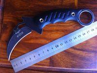 Cheap Good quality fox karambit knives, stone wash surface pattern folding blade hunting knife,claw karambit knives free shipping