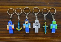 Alloy Rubber rubber keychain - 2015 NEW Minecraft keychain D Enderman JJ coolie silicon Rubber Key Chains Minecraft Keychains pendant Novelty ltem Christmas Gift