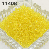 bicone crystal bracelet - Lucite Bicone DIY manual loose beads Crystal Bracelet Transparent Acrylic spacer Beads mm Yellow