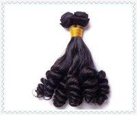 Compra Funmi calidad de pelo de rizo brasileño 6a-Grado 6A Funmi virginal brasileña del pelo de la armadura del pelo del pelo humano del enrollamiento sprial weavon caliente de la venta del pelo tía en Nigerial y el Reino Unido