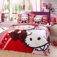 Wholesale hello kitty bedding set queen TC bedding sets without filler queen size hello kitty bedding hello kitty duvet cover queen