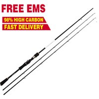 Wholesale EMS Free Bait Casting Reel Lure Spinning Rod with Double Tips Lure Meters Super Hard Lure Rod Carbon Rod Pole