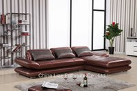 sectional sofa - 2015 Modern Furniture Genuine Leather Sectional Sofa Set with Adjustable Headrest BS Fire Retardant Standard Standard Export Package
