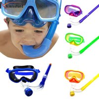 Wholesale Kimisohand Children Swimming Goggles Semi dry Snorkel Equipment