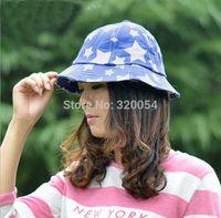 Wholesale 1 New Summer Outdoor Women And Men Fashion Bucket Hat Folding Pentagram Cotton Hats Colors